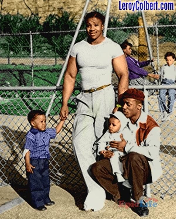 Лерой Колберт с племянниками