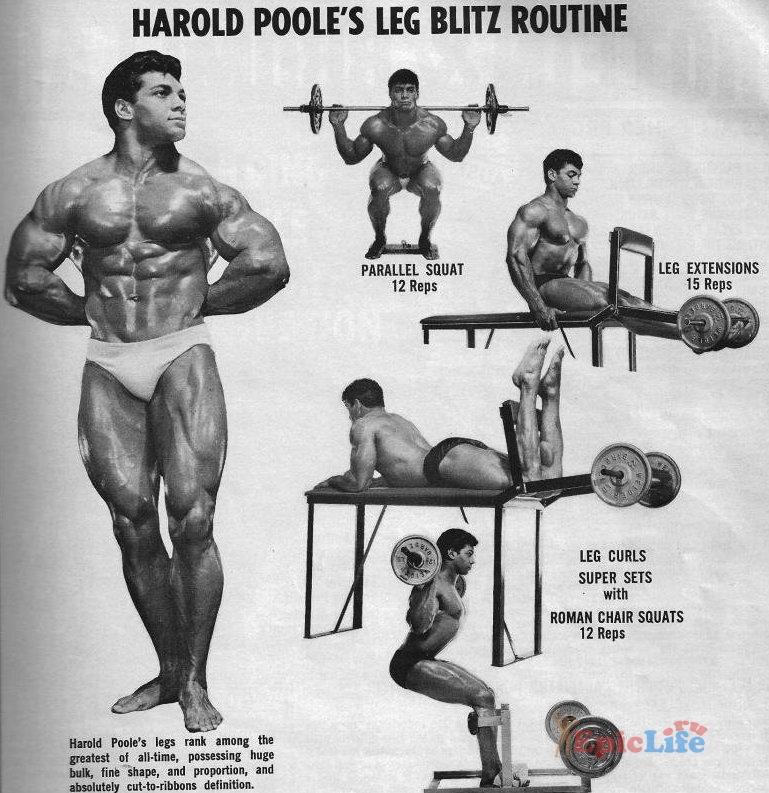 Тренировка ног Гарольда Пула