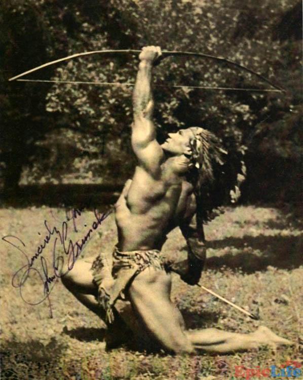 Джон Гримек (John Grimek) со стрелой